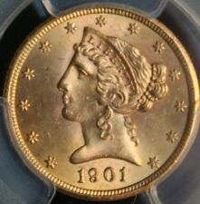 #~☆WOW!☆~ MS-64+ 1901-S Five $5 dollar Half Eagle PCGS Gold GORGEOUS coin!