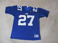 VINTAGE Champion Ron Dane New York Giants Football Jersey Adult Medium Blue 90s