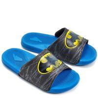 DC Comics Batman Boys' Slide Sandals Blue Sizes 3 New