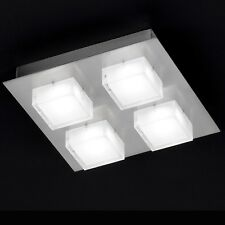 WOFI Plafonnier LED lune 4 BRAS nickel Cube LUMINAIRE LAMPE 12 Watt 960 LUMEN