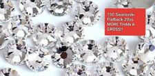 150 Genuine SWAROVSKI Crystals Clear Flatbacks No HotFix 20ss MoreThan Gross 144