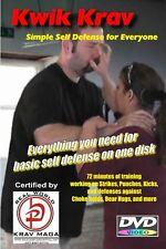"""SIMPLE SELF-DEFENSE + 10 Essential Moves"", 2 DVD Krav Maga Training Set."