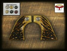 COLT SINGLE ACTION ARMY 1st Generation SAA GRIPS ~ MAGNA-TUSK™ AGED STAG QR