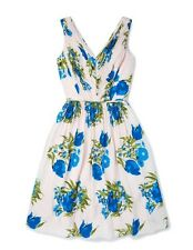 Boden Sumer Party Floral Skater Dress Sz 12L-14  Green & Blue New Rrp £129