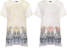 Magliette da donna a manica corta bianca in poliestere