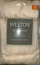 "Weston One Grommet Panel 50"" X 84"" Ivory Window Curtain"
