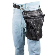 UNISEX TACTICAL MOTORCYCLE BIKER LEATHER THIGH TOOL PHONE LEG BAG  - DC48