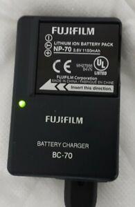 Genuine Original Fujifilm Camera Battery Charger BC-70 + Mains Lead