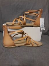 Cat&Jack Girls Gladiator Sandals Tan/Lilith Sizes 13, 1, 3 & 5 New Free Shipping