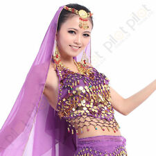 Belly Dance Costumes Outfit Daning Top Garment Sequins Bell Beads Bra