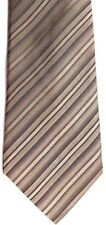"Kenneth Cole Mens Silk Tie 60"" X 3.25"" Multi-Color (Browns/Tans) British Striped"