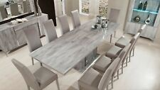 Alexa Italian Large Dining Set With 8 Chairs