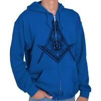 Illuminati Shirt   Freemason Symbol Compass Conspiracy Theory Zip Hoodie