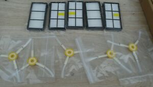 10pc Side Brush & Filter Replenishment Kit For irobot Roomba 800 870 880 Series