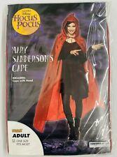 NEW Spirit Halloween Disney HOCUS POCUS Mary Sanderson's Cape Costume Adult Size