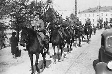 WW2 - Cavaliers allemands à Varsovie en 1939