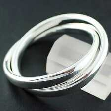 BANGLE CUFF BRACELET GENUINE REAL 925 STERLING SILVER S/F LADIES RUSSIAN DESIGN