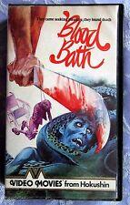 BLOOD BATH, HOKUSHIN, PRE CERT, VHS, PAL, DPP39, VIDEO NASTY