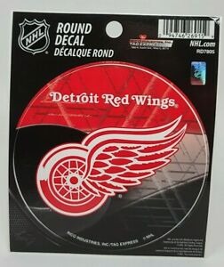 """Officially Licensed NHL Detroit Red Wings Vinyl Decal Sticker 4.5"""" -Free Ship"""