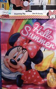 Disney Minnie Hello Summer Sportbeutel, Kordel Tasche 40 cm x 30 cm Disneyana
