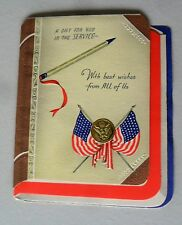 Vintage 1940s WWII Military In the Service MultiPage Greeting Card No Envelope