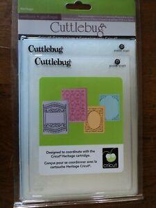 Cuttlebug Heritage Embossing Folder Collection. 4 Folders  (B19)