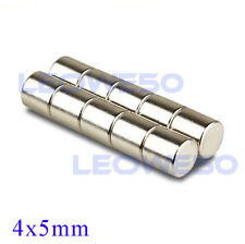 50 X Strong Round Cylinder Magnet 4mm x 5mm Rare Earth Neodymium No. 1709