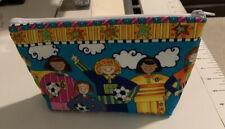 Girls Soccer Cosmetic Zipper Bag Coin Purse Pouch Handmade