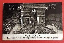 CPA. VŒUX. 1914. 1919. Champs Elysées. Soldats. Illustrateur BESNIER. Paris.