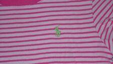Ralph Lauren T-Shirt für Mädchen Gr. M, weiß/pink gestreift, sehr schön!