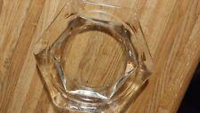 "Vintage Heavy Clear Glass Ashtray Elegant 7 1/4"" x 1 1/4"""