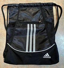 Adidas Drawstring Gym Bag || black, pockets, logo style