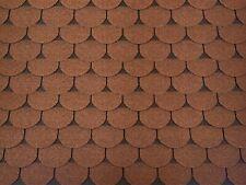 Dachschindeln 9 m? Biberschindeln Braun (3 Pakete) Schindeln Dachpappe Biber