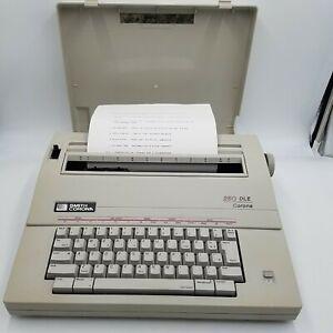 Smith Corona 250 DLE Electronic Word Eraser Typewriter Tested & Works Great