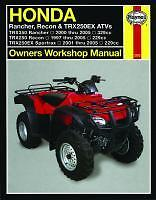 Haynes Manual for HONDA TRX TRX350 Rancher  TRX250 Recon & TRX250 Sportrax