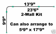 23.5' Two-Wall Aluminum Ceiling Track Kit for Backdrops