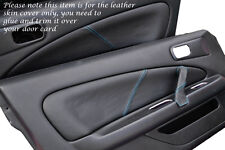 BLUE STITCH FITS NISSAN SILVIA 200SX S15 1999+ 2 X DOOR CARD TRIM LTHR COVERS