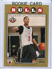 "2008-09 TOPPS #196 DERRICK ROSE ""GOLD"" ROOKIE RC SP #1123/2008 - CHICAGO BULLS"