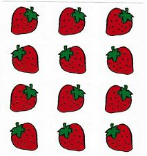 Mrs Grossman's Reflections FRUIT Strawberry Scrapbook Stickers 3 Strips