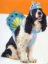 Peacock Dog Pet Bird Nature Costume Photo Prop Size M, L