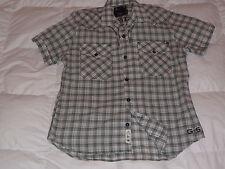 Authentic G-Star Raw Devil Check Short Sleeve Button Down Mens Shirt Sz XXL