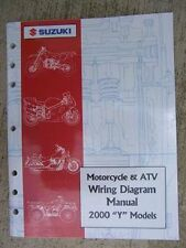 2000 Suzuki Motorcycle ATV Wiring Diagram Manual Y Model Troubleshooting Guide J