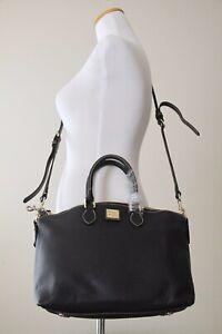 DOONEY & BOURKE Pebble Grain Leather Satchel FA968 BB, Black