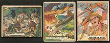 ~ 1942 WAR BONDS Military 3 Card Lot ~ WWII ~ Gum Cards ~