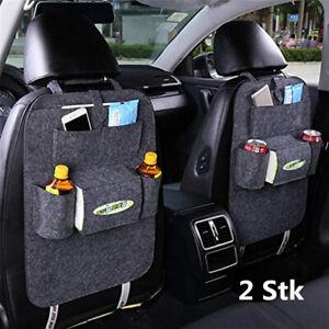 2Pcs Autositz Rücksitztasche Auto Organizer Multi Tasche Tasche Rücklehnentasche
