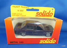 TALBOT TAGORA n° 1307  1/43  MADE IN FRANCE  SOLIDO + BOITE