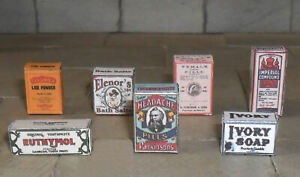 SET OF HAND-MADE DOLLS' HOUSE 1/12TH SCALE VICTORIAN BATHROOM BOXES