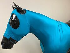 Sleazy Sleepwear for Horses Genuine Stretch Hood Teal Large