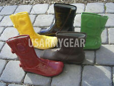 Palladium Unique Designer Fashion Yellow Patent Leather Hot Cool Rain Snow Boots