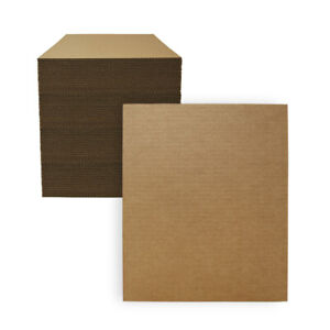 """100 - 11"""" x 14"""" Corrugated Cardboard Pads/Inserts/Sheets 32 ECT Made in USA"""